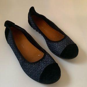 Black & Blue Flats Size 38